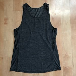 Lululemon gray tank.